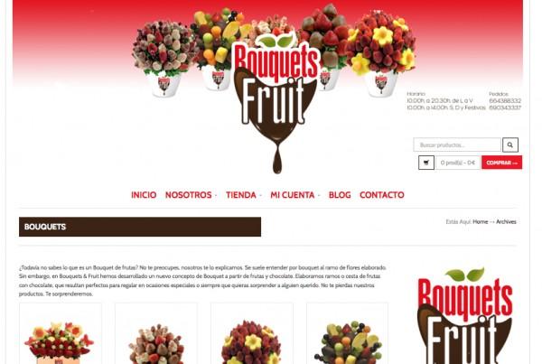 Página Web Bouquetsfruit